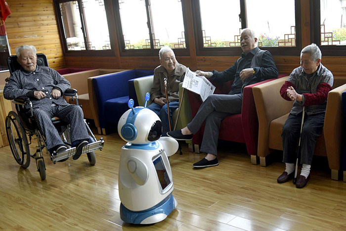 Robots are helping Chinese elderly in nursing homes